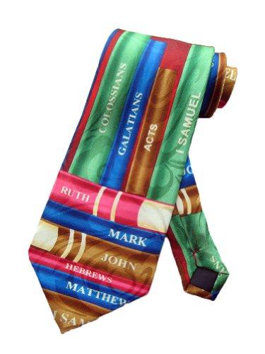 Steven Harris Mens Bible Books Old Testament Necktie - Blue - One Size Neck Tie