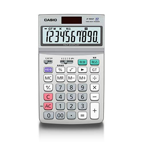 カシオグリーン購入法適合電卓10桁時間・税計算ジャストタイプJF-100GT-N