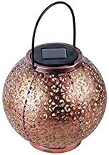 GMART 2 Pack Big Hanging Solar Lights Outdoor Solar Lights Retro Hanging Solar Lantern with Handle and Table Lantern, 10 L...