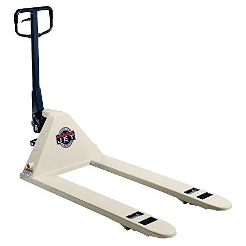 Jet PTW-2748 6000 lb Pallet Truck, White, 27-Inch by 48-Inch