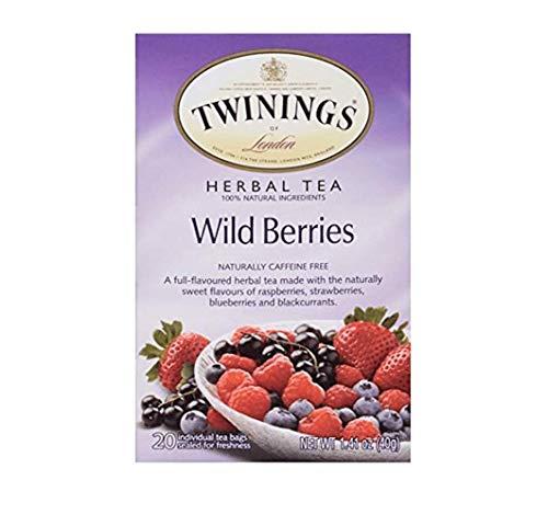 Twinings Herbal Tea Wild Berries -- 20 Tea Bags (Pack of 2)