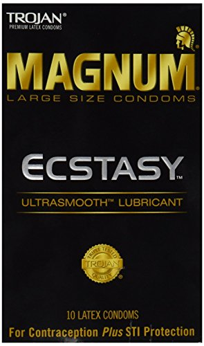 Trojan Magnum Ecstasy Lubricated Condoms, 10 Count (Pack of 2)
