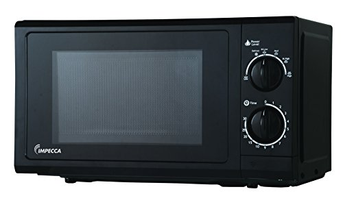 Impecca CM0674K 700-Watts Counter top Microwave Oven, 120V 0.6 Cubic Feet, Black