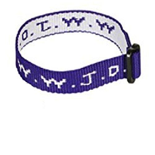 wwjd Purple Woven Cloth Bracelet