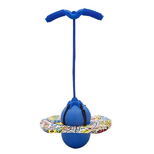 Pogo Ball Pogo Stick De Espuma con Mango Y Bomba para Equilibrio Aeróbico Y Ejercicio Coordinado, Carga Máxima 100 Kg