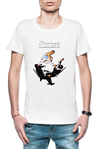Los Habilidad De Gimnasia, Los Matar De Kárate Hombre Camiseta Blanco Tamaño XL - Men's T-Shirt White