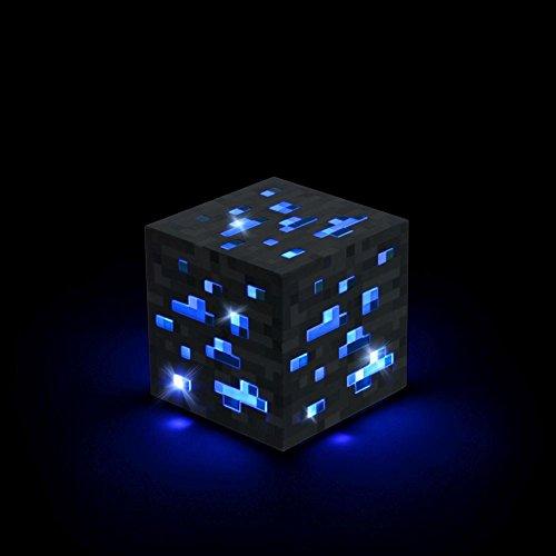 ThinkGeek Minecraft Light-Up Blue Stone Diamond Ore - Sure to Keep Pigmen Away