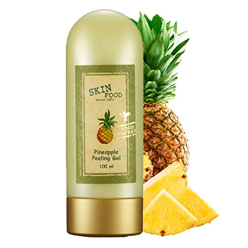 SKINFOOD Pineapple Peeling Gel 3.38 fl.oz. (100ml) - Pineapple and Aloe Contained AHA Deep Facial Exfoliating Gel, Eliminates Sebum, Skin Clear and Blemish-Free