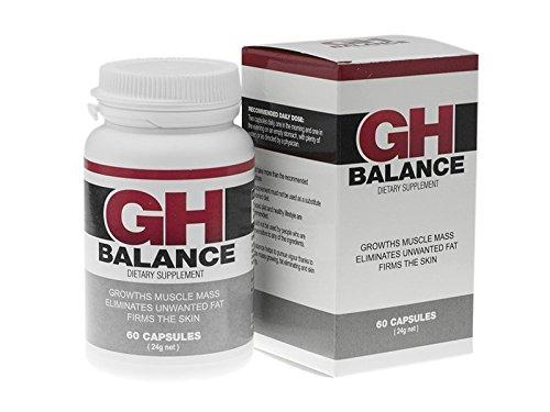 GH BALANCE - Schneller Muskelaufbau, beseitigt Bauchfett, hautstraffend, verjüngt, erwecke die Begierde der Frauen! 60 Kapseln Basic Package für echte Männer!