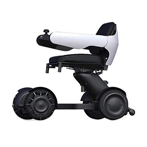 A&DW Freizeit-Scooter, tragbarer Smart-Elektro-Rollstuhl, Vier-Rad-Elektro-Scooter, ältere Folding Behinderte Erwachsene Haushalt Freizeit Moped
