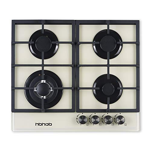24' inches Gas Cooktop Gas Stove Tempered Glass Built in 4 Burners Gas Stoves Cooktop Stove Burner...