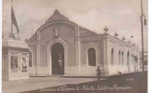 Antigua Postal - Old Postcard : EXPOSICIÓN DE VALENCIA - Pabellón Industria Abaniquera