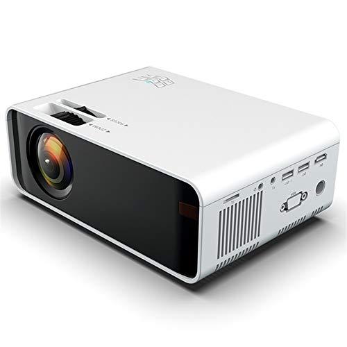 Mini proyector, proyector portátil de Portátiles Pantalla de 1080p y 100 '', Compatible con TV Stick, Videojuegos, HDMI, USB, TF, VGA, AUX, AV (Color : White)