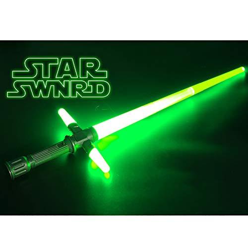 GAOXIAOMEI Espada Flash,el Sable de luz retráctil de Que Puede producir Sonidos y Luces,el Sable de luz retráctil,A