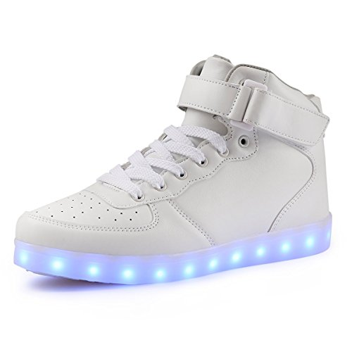 VOEN High Top Light up Shoes USB Charging 11 Colors Flashing LED Shoes Sneakers for Men Women Teens