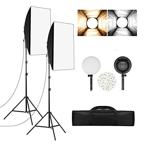 Andoer LED Softbox Photography Lighting Kit, 20 x 27'' Continuous Studio...