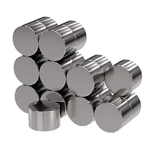 20 x Disques magnétiques néodyme | Diamètre Ø 6 mm, hauteur 4 mm | nickelé (NiCuNi) | Force d'adhérence environ: ~ 1.20 kg | extra fort / haute qualité | 20 pc. super puissants Aimant-disque circulaire