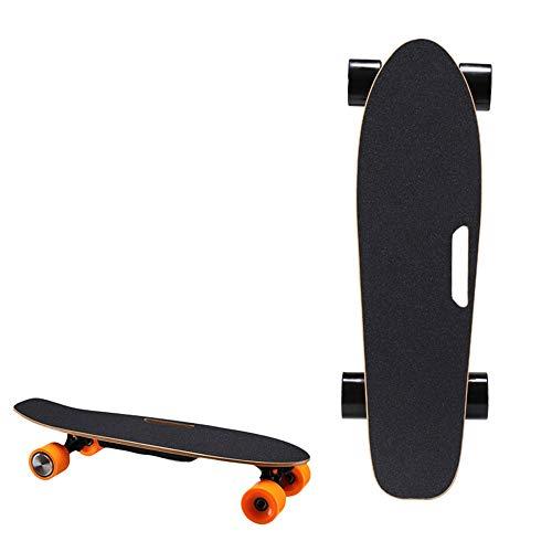 Elektrisches Skateboard, Vierrädriges Fish Board Travel Professional Board Für Erwachsene Studenten, Kabelloser Ferngesteuerter Roller,Schwarz