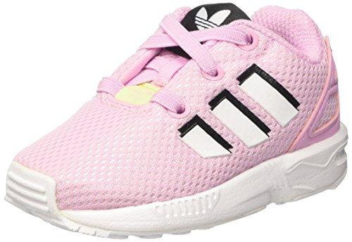 adidas ZX Flux El I, Sneakers Mixte bébé, Rose (Frost Pink F14/ftwr FTWR White), 24 EU