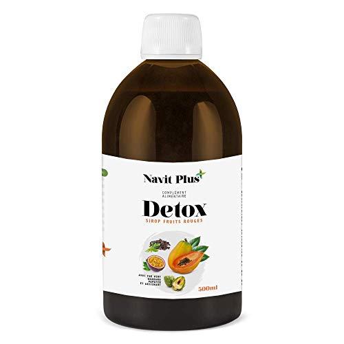 DÉTOX diurétique minceur 100% naturelle | Puissant détoxifiant pour le foie. Thé vert + Papaye + Artichaut + Vitamine C + Guarana | Antioxydant | Élimine rapidement les toxines | 500 ml.