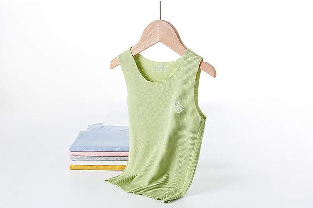 PTPUKE Toddler Little Girl Boy Solid Comfort Soft Clothes Summer Breathable Undershirt Vest Shorts Set 2 Pack