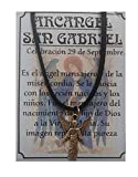 Arcangel San Gabriel, Colgante, Amuleto para atraer Embarazo y Fertilidad, Protección Embarazo y Niños, sin niquel