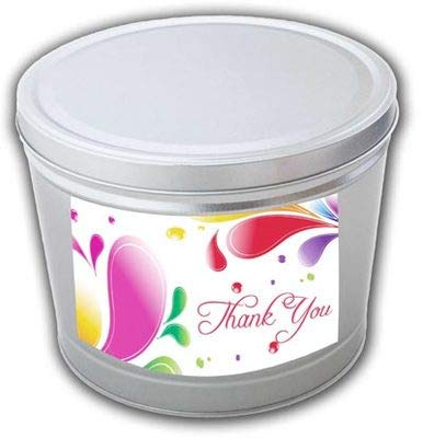 Best Bargain Thank You Gourmet Popcorn Tin - 2 Gallons, Traditional 3-Way Combo