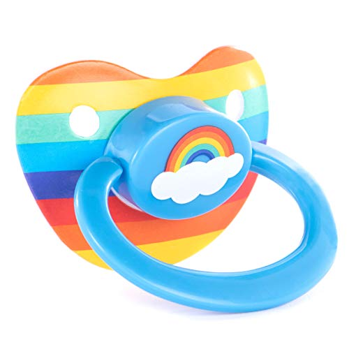 Littletude Pacifier. Rainbow. Silicone. Large Handle. Big Shield.