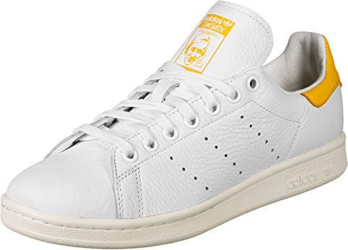 adidas Damen Stan Smith W Gymnastikschuhe, Weiß (FTWR White/Active Gold/Off White FTWR White/Active Gold/Off White), 36 2/3 EU