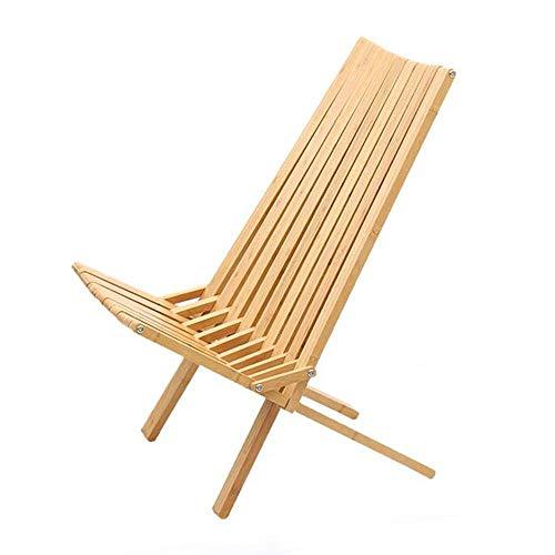 YLCJ Buiten ligstoel in massief hout Outdoor stoel in massief hout Outdoor stoel voor vrije tijd