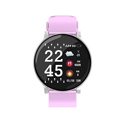 Make-up borstel Fitness Tracker, gedrag tracking en stappenteller stappenteller horloge en monitor slaap, waterdichte calorie teller gezondheid en fitness intelligente sport horloge - 3colors Foundation Blending Co roze