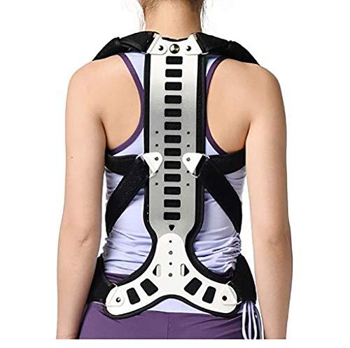 Órtesis de espalda Corrección jorobada correctiva Corrección soportes de la espalda jorobada Ortesis cinturón de nuevo espinal Ortesis de los niños de la correa unisex (Tamaño: M (Altura: 160-