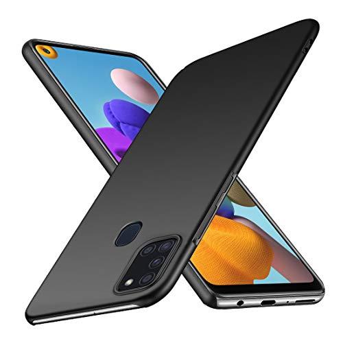 TOPACE Hülle für Samsung Galaxy A21s Superdünne Leichte Matte Handyhülle Einfache Stoßfeste Kratzfeste Schutzhülle kompatibel mit Samsung Galaxy A21s (Schwarz)