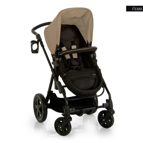 Great Features Of i'coo Photon Stroller, Beige/Black, 0-48 Months