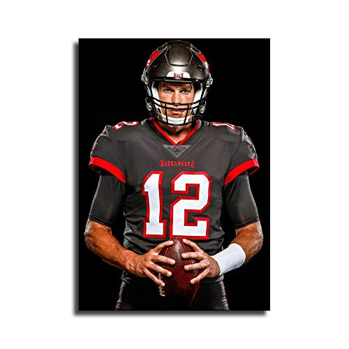 Tom Brady Buccaneers Jersey Canvas Art Poster and Wall Art Picture Print Modern Family Bedroom Decor PostersYAYAO
