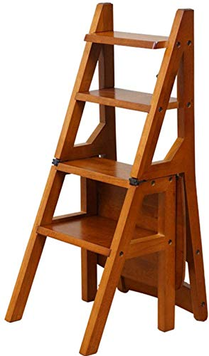 QingShunBeiJing Frame Vouwtrap trapladder met houtnerf Finish Lichtgewicht Draagbare Kruk Voor Keuken Garage Thuis Gebruik Brede antislip Pedaal