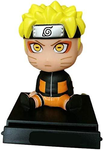 WIJJZY Alto 12CM Naruto Naruto Seis Inmortales Q Versión Sacudiendo Naruto Escultura Sacudida del Coche en Caja Modelo de Regalo Regalo de Cumpleaños Estatua Colección Decoración