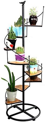 ZhuFengshop Soporte para Plantas Planta Del Soporte Del Metal Soporte De Flor Flor Portaescaleras Pantalla Con 8 Niveles Cubierta Jardín Al Aire Libre Estante De Almacenamiento Estante de exhibición d