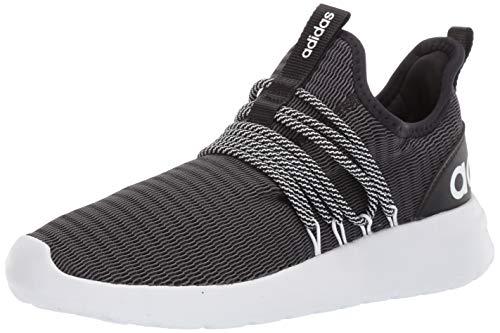 adidas mens Lite Racer Adapt Running Shoe, Black/Black/Grey, 10.5 US
