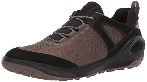 ECCO Men's Biom 2Go Sneaker Gore-TEX Hiking Shoe, Black/Dark Clay Yak Nubuck, 12-12.5