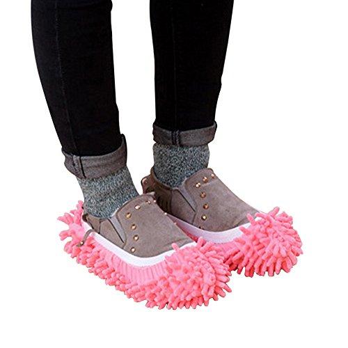 URIJK Staubmopp Hausschuhe Wischmop Bodenreiniger Waschbar Hausschuhe Schuhreinigung Fuß Socken Schuhe Mop Putz Reinigung Schuh Abdeckung 1 Paar