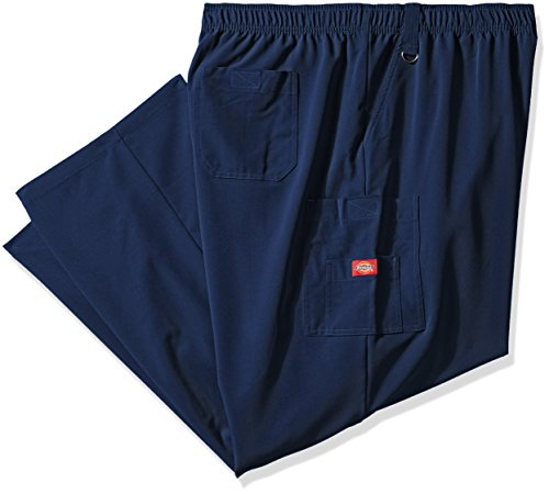 Dickies Men's Big and Tall Xtreme Stretch Zip Fly Pull-On Scrub Pant, Navy, XXX-Large