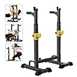 Estante de Barra con Pesas Ajustable para Barbell, Squat Rack Stand Gym para Fitness,...