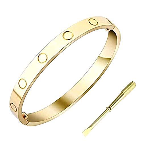 FOR TMT Armband Mode Schraubendreher Titan Stahl Armband Kreatives Armband Liebe Ewiger Ring Feiner Schmuck Gold 17Mm