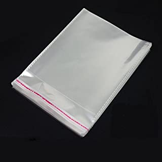 AIRSUNNY 200 Pcs 9x12 Clear Resealable Cello/Cellophane Bags Good for Bakery, Candle, Soap, Cookie Poly Bags
