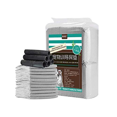 GBY Pet Trainingspad Bambuskohle Faser Verdickung Deodorant Dog Pad Gelb Saugfähige Hundewindel Reisschüssel Ruhefläche und andere auslaufsichere Bodenschutzmatte für Katzen und Hunde geeignet