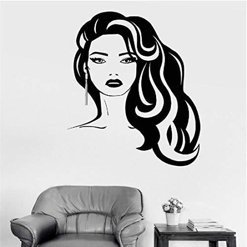 Mooie Vrouwen Muurstickers Huis Versier Verwijderbare Vinyl Muurstickers voor Muur Schoonheid Kappers Salon Shop Raam 56x70cm