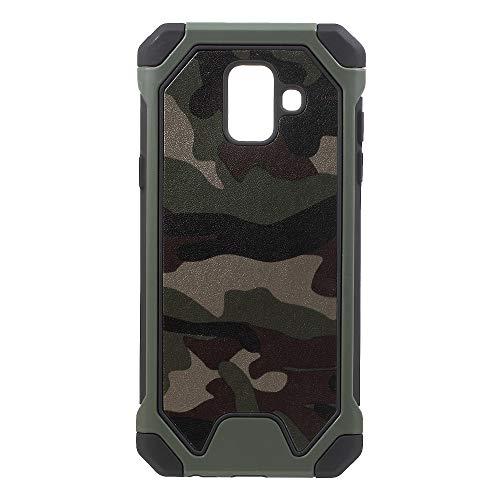 jbTec Hybrid Case Handy-Hülle Camouflage - Schutzhülle Schutz-Schale Cover Tasche Etui Silikon Handyhülle Handytasche, Farbe:Oliv-Grün, passend für:Samsung Galaxy A6 2018