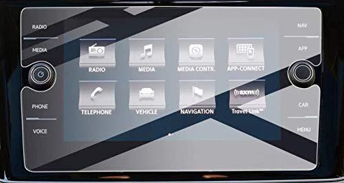 Pellicola protettiva per la navigazione V-W T*iguan 2 Pellicola protettiva per schermo in vetro temperato da 8 pollici Resistente ai graffi Anti-impronte digitali Durezza 9H Anti-Scatter