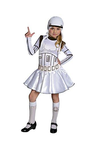 Rubies - Disfraz infantil de soldado imperial para nias, diseo oficial de Star Wars de Disney, talla L de 8 a 10 aos